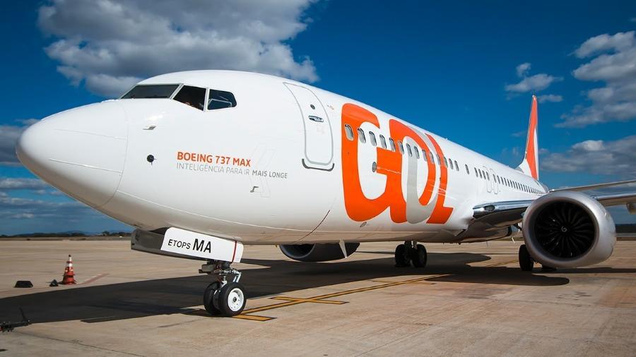 Aviões do modelo Boeing 737 Max8, da Gol, com capacidade para 186 passageiros - Divulgação