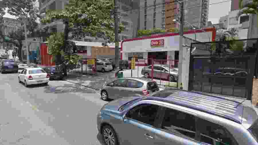 Acidente ocorreu na unidade da rede da rua Purpurina, no bairro da Vila Madalena - Reprodução/Google