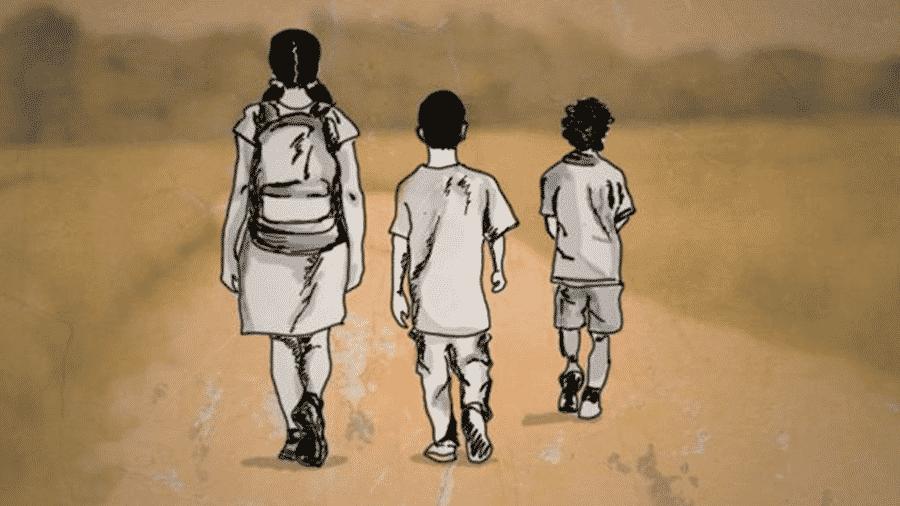 Quase 400 crianças e adolescentes cruzaram a fronteira da Venezuela com o Brasil totalmente sozinhos entre agosto de 2018 e junho deste ano - CECLILIA TROMBESI/BBC