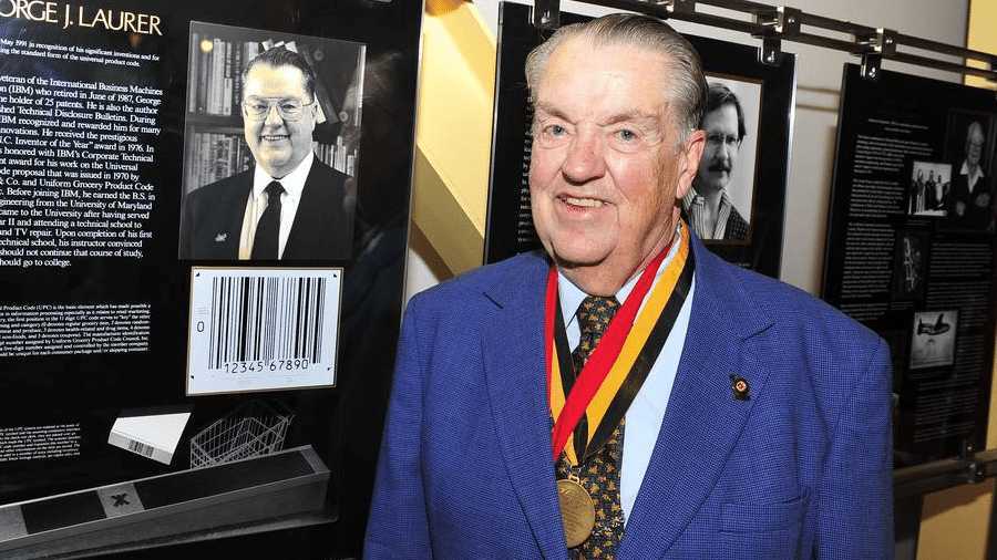 George J. Laurer, criador do código de barras, morreu aos 94 anos - Universidade de Maryland/Divulgação