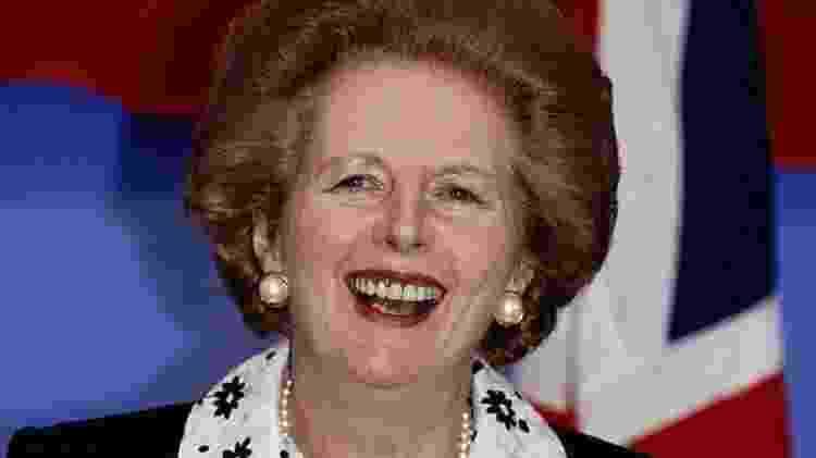 Ex-premiê britânica, Margaret Thatcher fez polêmico discurso em 1988, que mudaria para sempre relação do Reino Unido com União Europeia - Getty Images - Getty Images