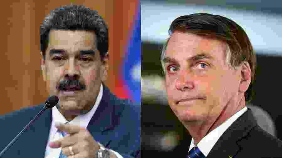 """""""Desculpa"""" foi usada por Maduro como justificativa para a realização de exercícios militares programados para o fim de semana - Fausto Torrealba/Reuters e Sergio Lima/AFP"""