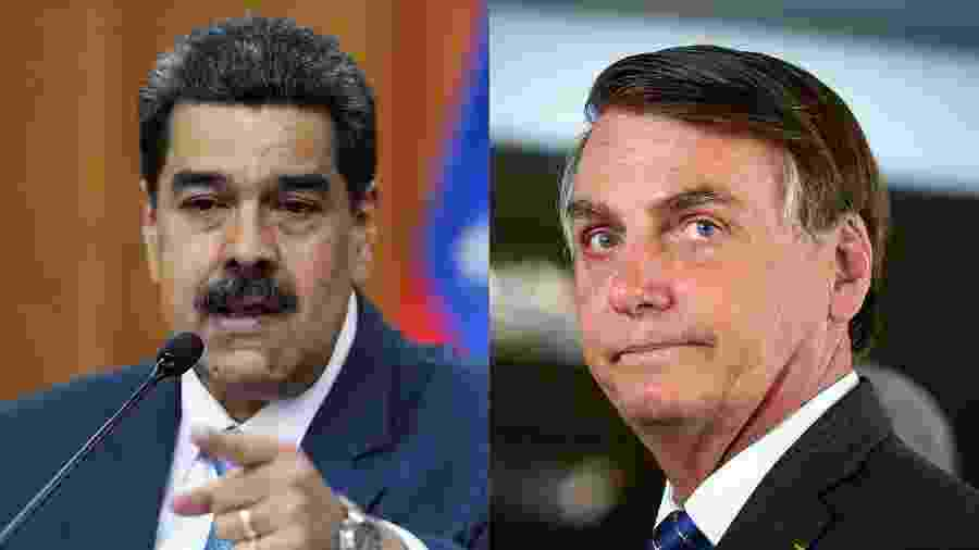 Nicolás Maduro e Jair Bolsonaro - Fausto Torrealba/Reuters e Sergio Lima/AFP