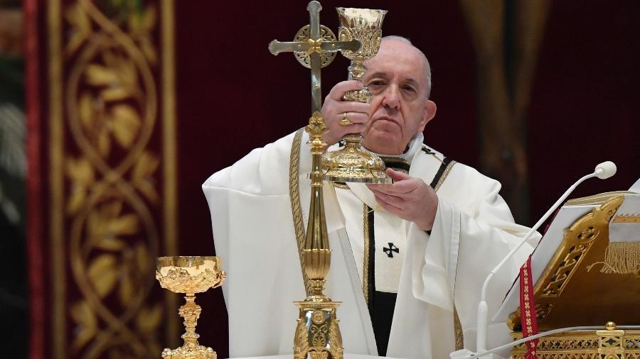 Vatican Media - 12.abr.2020/AFP