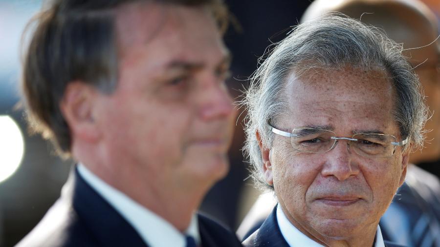 """""""O presidente (Bolsonaro) sempre diz que economia e saúde andam juntas, e temos que respeitar isso"""", afirmou Guedes -"""