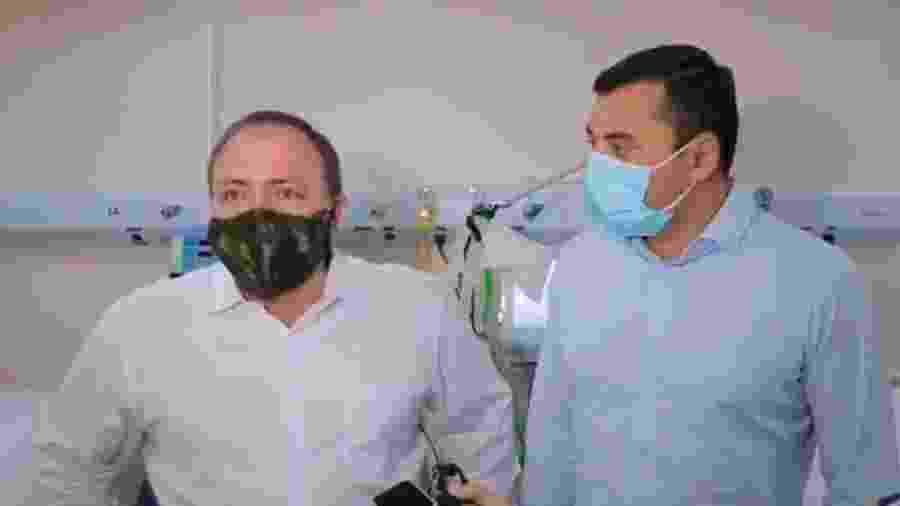 O ministro da Saúde, Eduardo Pazuello, e o governador do Amazonas, Wilson Lima - Reprodução/Twitter