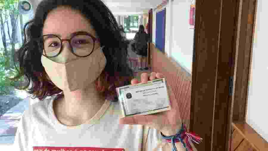 Laura, 17, votou pela primeira vez, com esperança de viver em uma cidade e um país melhores - Arquivo pessoal