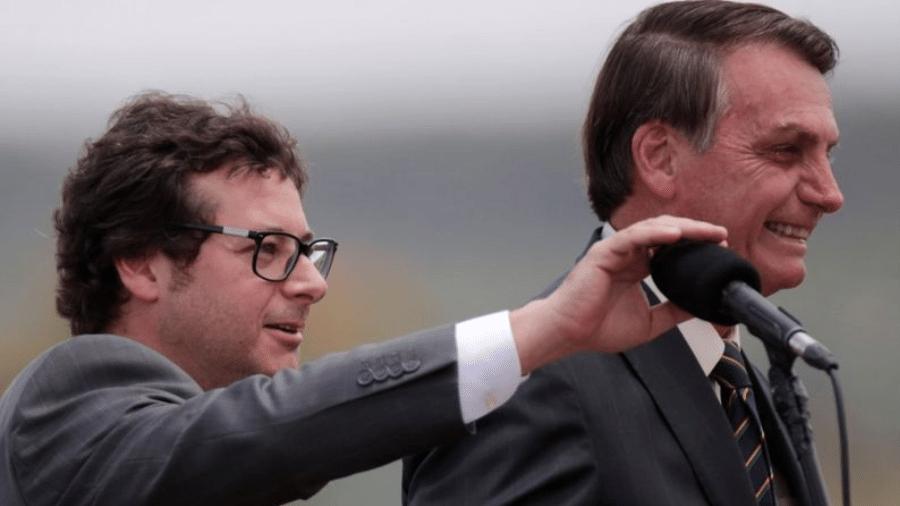 Wajngarten (esq.) era um interlocutor bem próximo a Bolsonaro - Reuters