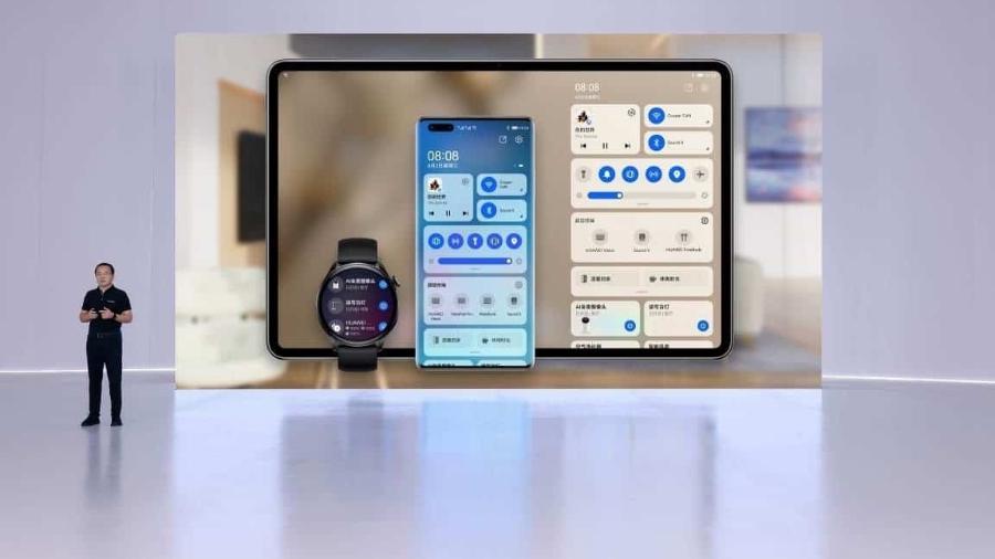 Engenheiro da Huawei mostra nova versão do Harmony OS - Divulgação/ Huawei