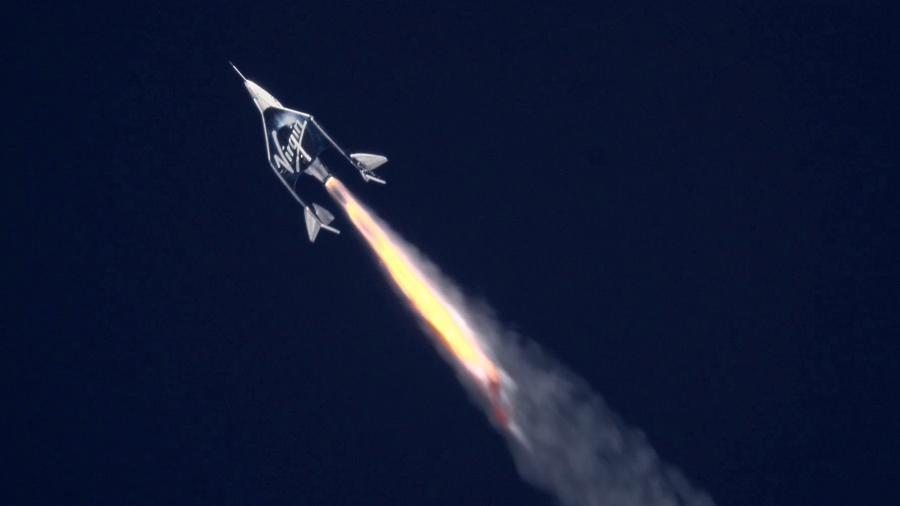Voo de testes tripulado da nave da Virgin Galactic - Mars Scientific/Virgin Galactic