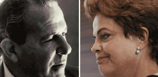João Goulart (à esq.), presidente de 1961 a 1964 e Dilma Rouseff, presidente desde 2011 - Arte/UOL