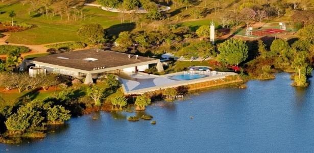 Vista aérea do Palácio do Jaburu, em Brasília