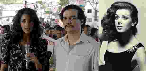 Valeria Velez e Virginia Vallejo  - Reprodução/Netflix e Hernán Díaz/Site oficial de Virginia Vallejo  - Reprodução/Netflix e Hernán Díaz/Site oficial de Virginia Vallejo