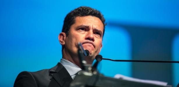 26.ago.2017 - O juiz Sergio Moro durante palestra em São Paulo