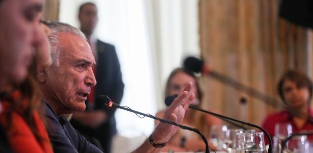 12.fev.2018 - Presidente Michel Temer durante evento em Roraima