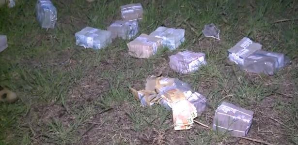 Parte do dinheiro roubado ficou espalhada por Bacabal