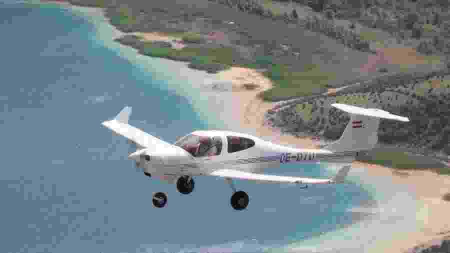 Aeronave Diamond DA40 como a que se envolveu no incidente aéreo em Adelaide - Divulgação/Diamond Craft