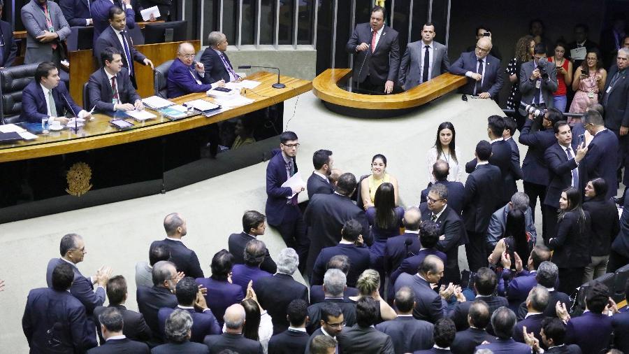 Deputados durante votação na Câmara  - Luis Macedo/Câmara dos Deputados
