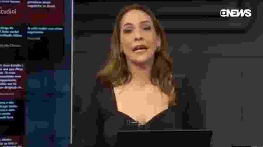 Apresentadora da GloboNews Maria Beltrão - Reprodução/GloboNews