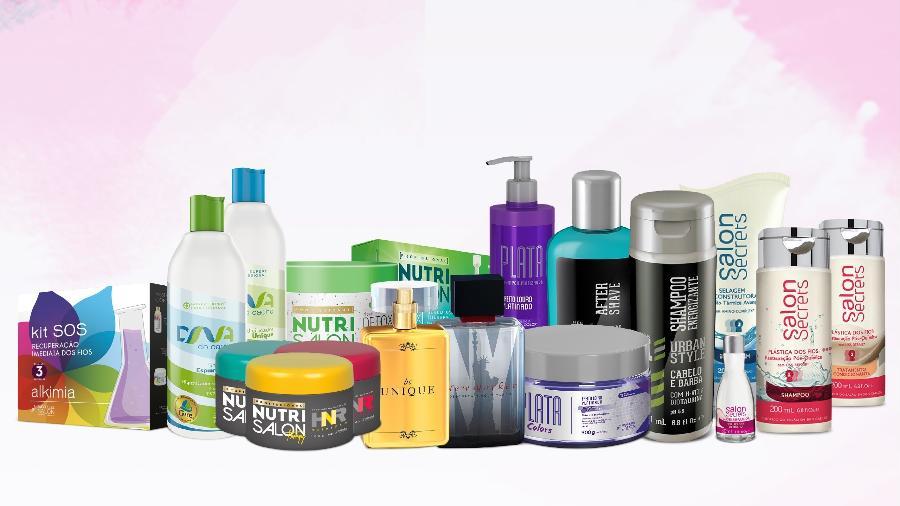Produtos que serão vendidos no sistema porta a porta pela Embelleze Venda Direita - Divulgação