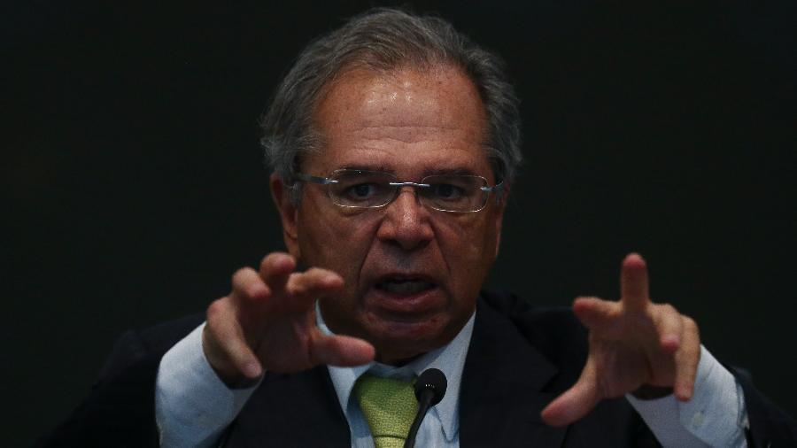 O ministro da Economia, Paulo Guedes, fala durante seminário sobre a MP da Liberdade Econômica - Pedro Ladeira - 12.ago.19/Folhapress