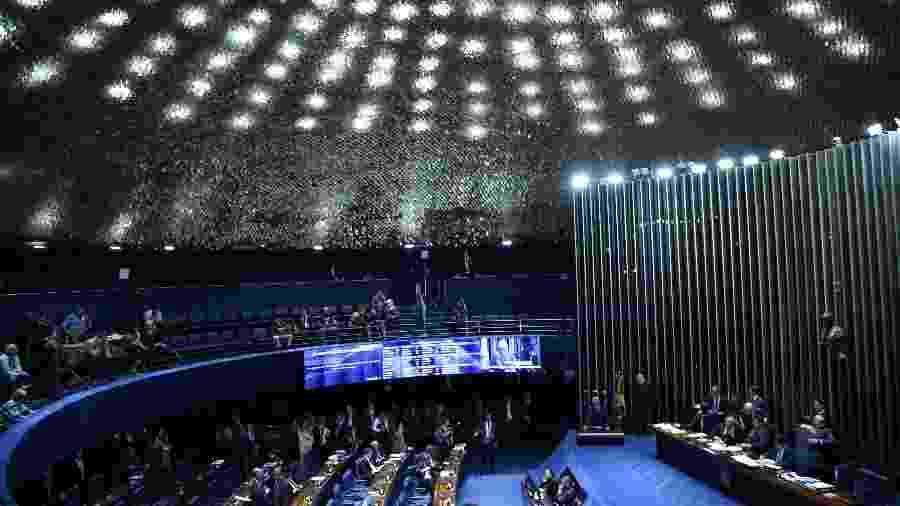 Sessão no Senado para votação da reforma da Previdência em segundo turno - EDU ANDRADE/FATOPRESS/ESTADÃO CONTEÚDO