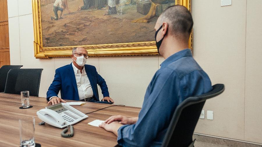 Geraldo Alckmin em reunião com Bruno Covas - Marcelo Pereira / SECOM
