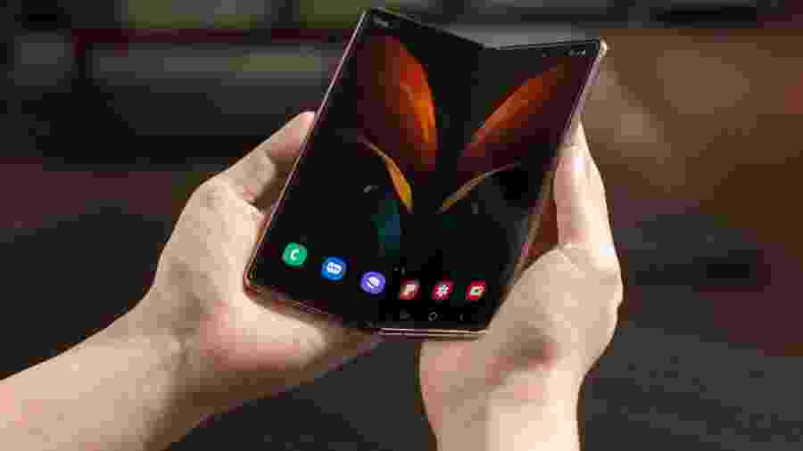 Novo Galaxy Z Fold 2, celular dobrável da Samsung - Divulgação