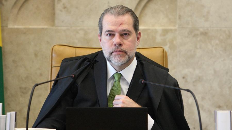 O presidente do STF (Supremo Tribunal Federal), ministro Dias Toffoli, durante sessão plenária - Nelson Jr./SCO/STF