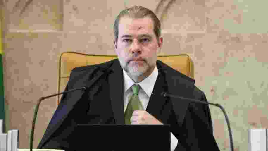 O presidente do STF (Supremo Tribunal Federal), ministro Dias Toffoli, durante sessão plenária em 5 de agosto de 2020 - Nelson Jr./SCO/STF