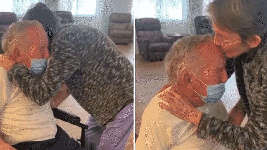 Casados há 60 anos, idosos se reencontram após 215 dias separados por causa da covid-19 - Reprodução/Rosecastle em Delaney Creek