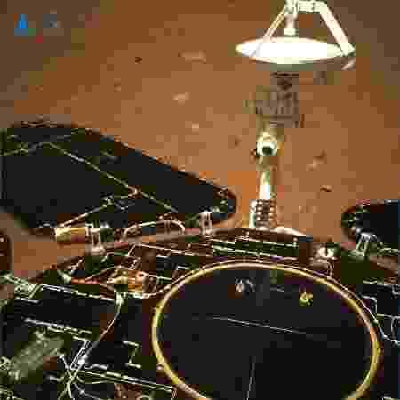 Imagem captada pelo Zhurong em Marte - CNSA - CNSA