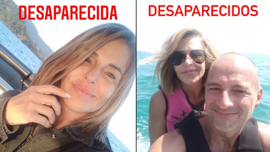 Casal que saiu para ver o pôr do sol em uma embarcação em Angra dos Reis (RJ) e não foi mais visto; família de Cristiane Nogueira da Silva faz apelo  - Reprodução/Facebook