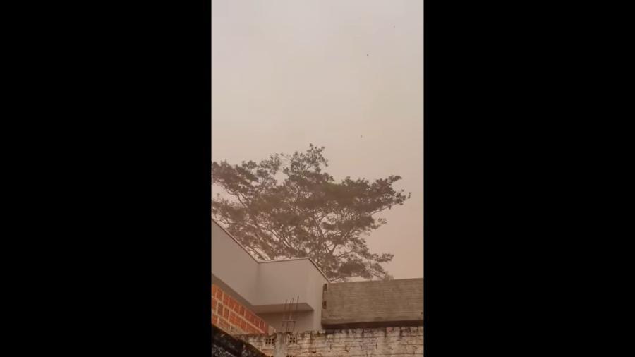 Catanduva (SP) registra nuvem de poeira neste domingo (3) - Reprodução/internet