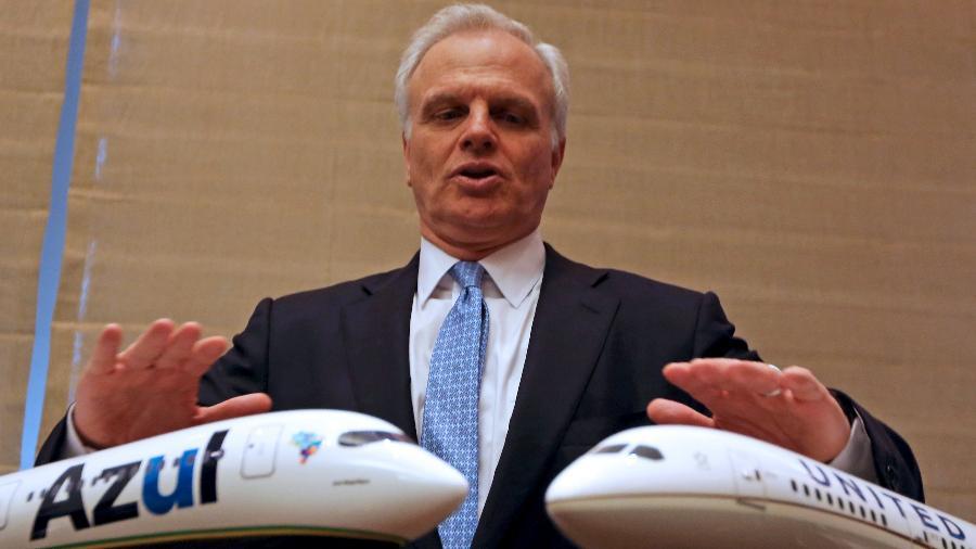 O fundador e controlador da companhia área Azul, David Gary Neeleman - Paulo Whitaker/Reuters