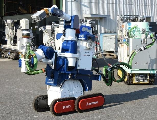 18.jan.2016 - A companhia tecnológica japonesa Toshiba, fabricante do robô e construtor da usina, realizou uma demonstração do aparelho na cidade de Yokohama, ao sul de Tóquio