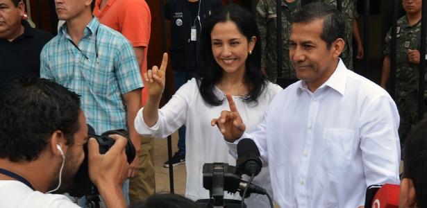 O presidente do Peru, Ollanta Humala, e a primeira-dama, Nadine Heredia