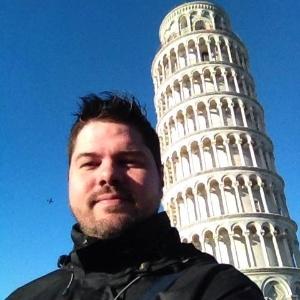 O jornalista Wagner Baddini Tronolone em foto publicada em seu Facebook