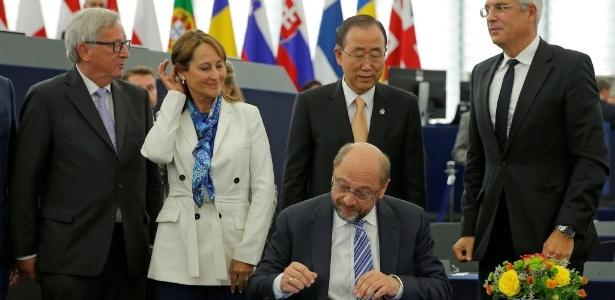 Eurocâmara aprovou a ratificação por parte da União Europeia (UE) do Acordo de Paris sobre o clima - Vincent Kessler/Reuters