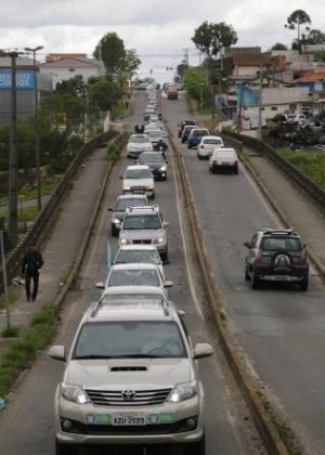 As carreatas foram o principal instrumento de campanha em Curitiba neste sábado