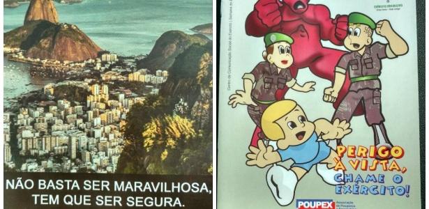 Panfleto do Disque Denúncia e revista em quadrinhos distribuídos em operação no Rio