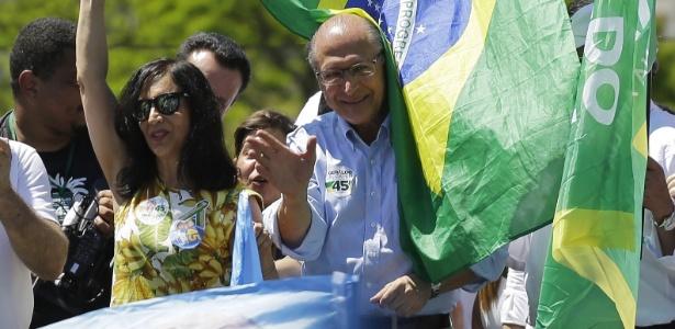 No domingo (23), Alckmin fez campanha no parque Ibirapuera, em SP