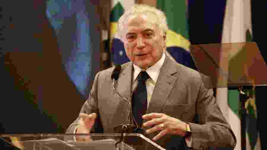 19.nov.2018 - Ex-presidente Michel Temer (MDB) - Fátima Meira/Futura Press/Estadão Conteúdo
