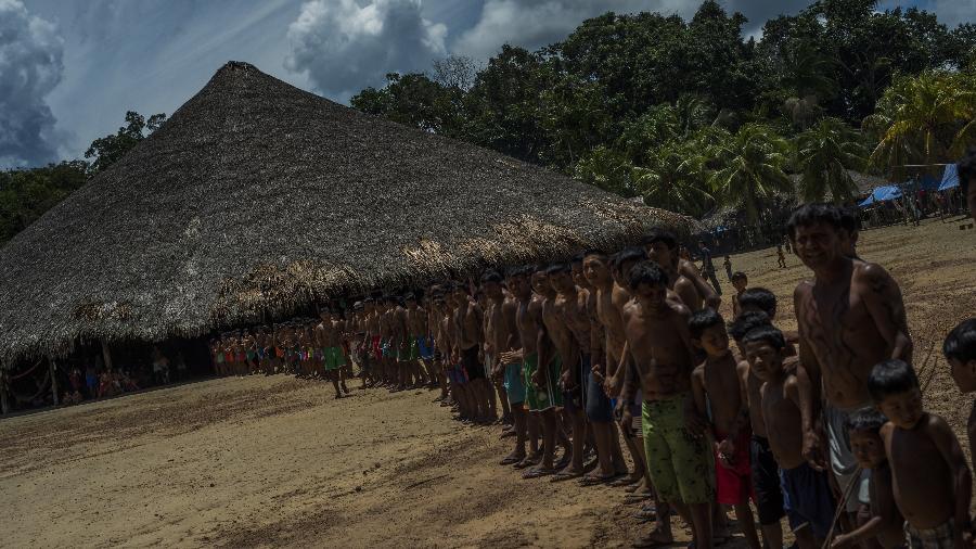 Uma das aldeias Waimiri-Atroari,  localizada na divisa dos estados do Amazonas e Roraima - Raphael Alves / TJAM