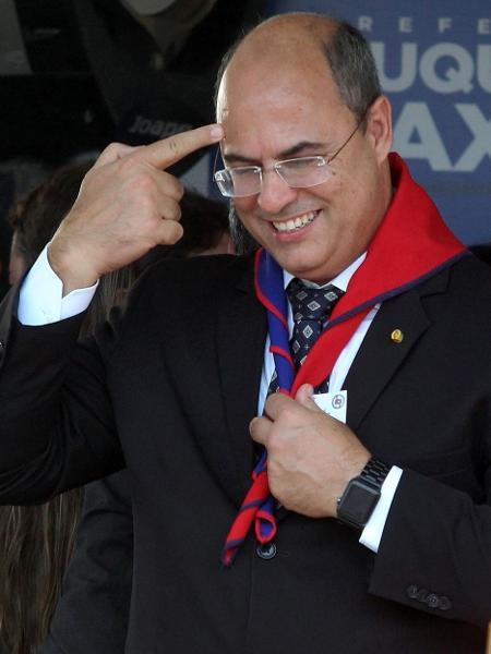 17.dez.2018 - O governador Wilson Witzel (PSC) participa de inauguração de colégio da PM - FÁBIO MOTTA/ESTADÃO CONTEÚDO