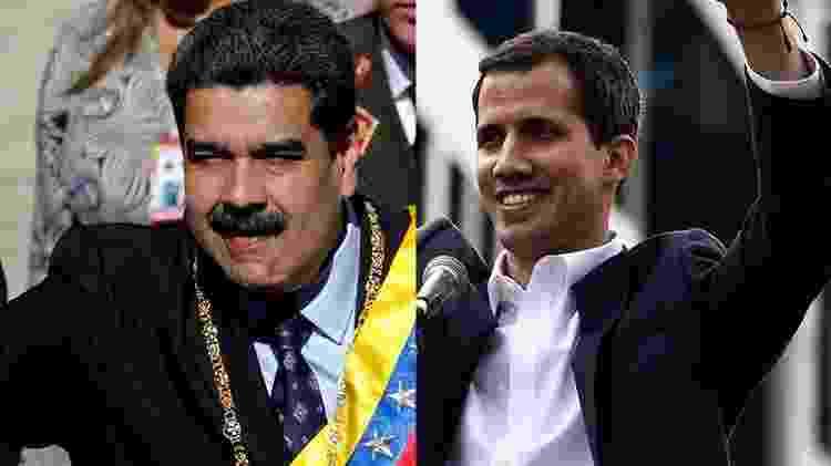 Maduro Guaidó - Arte/UOL - Arte/UOL