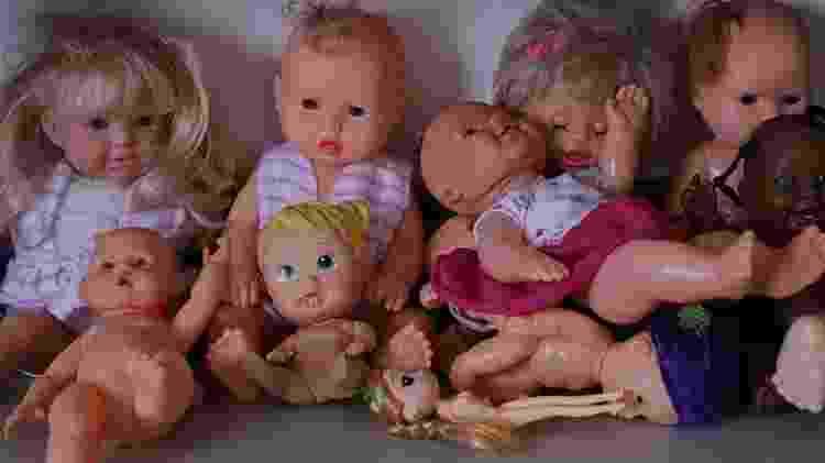 Brinquedos na associação onde crianças com espinha bífida recebem tratamento em Cuiabá. Segundo o pai de Emanuelly, os médicos da filha falam sobre a ligação entre a malformação e os agrotóxicos - Lunaé Parracho/Repórter Brasil