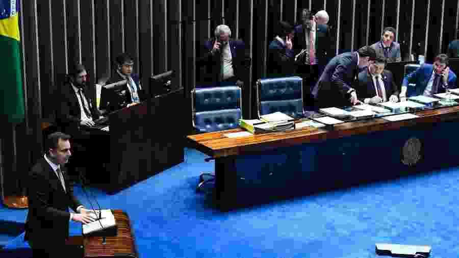 Senador Rodrigo Pacheco já pode ter maioria para eleição à presidência com apoio do PDT - Marcos Oliveira/Agência Senado