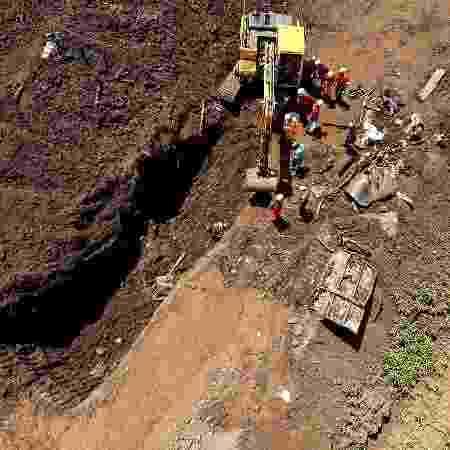 Bombeiros trabalham na localização de corpos em Brumadinho (MG) - Divulgação/Corpo dos Bombeiros de MG