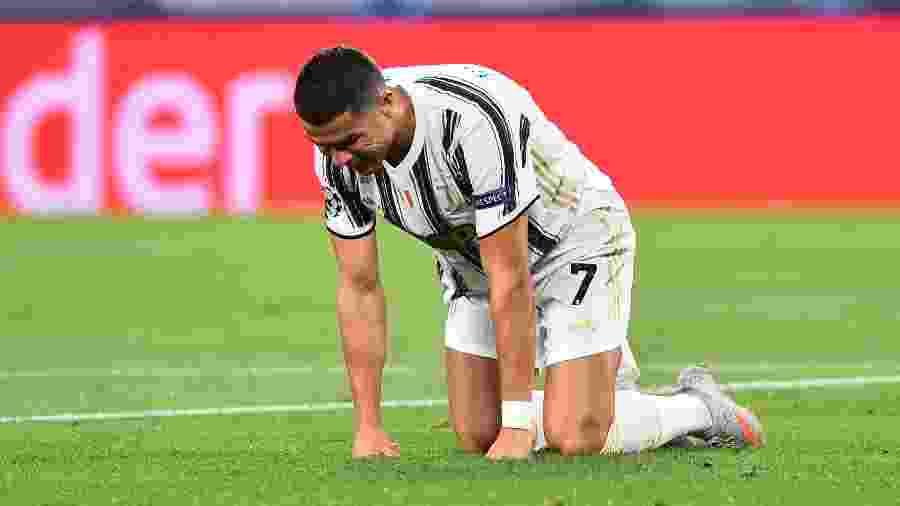 Cristiano Ronaldo lamenta chance perdida no duelo contra o Lyon - MASSIMO PINCA